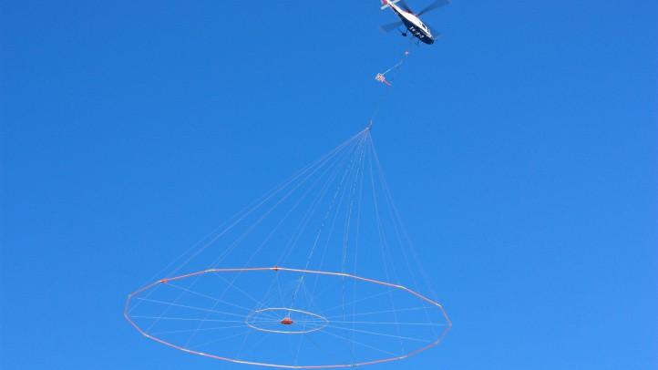 VTEM on survey with Geotech Aviation Koala