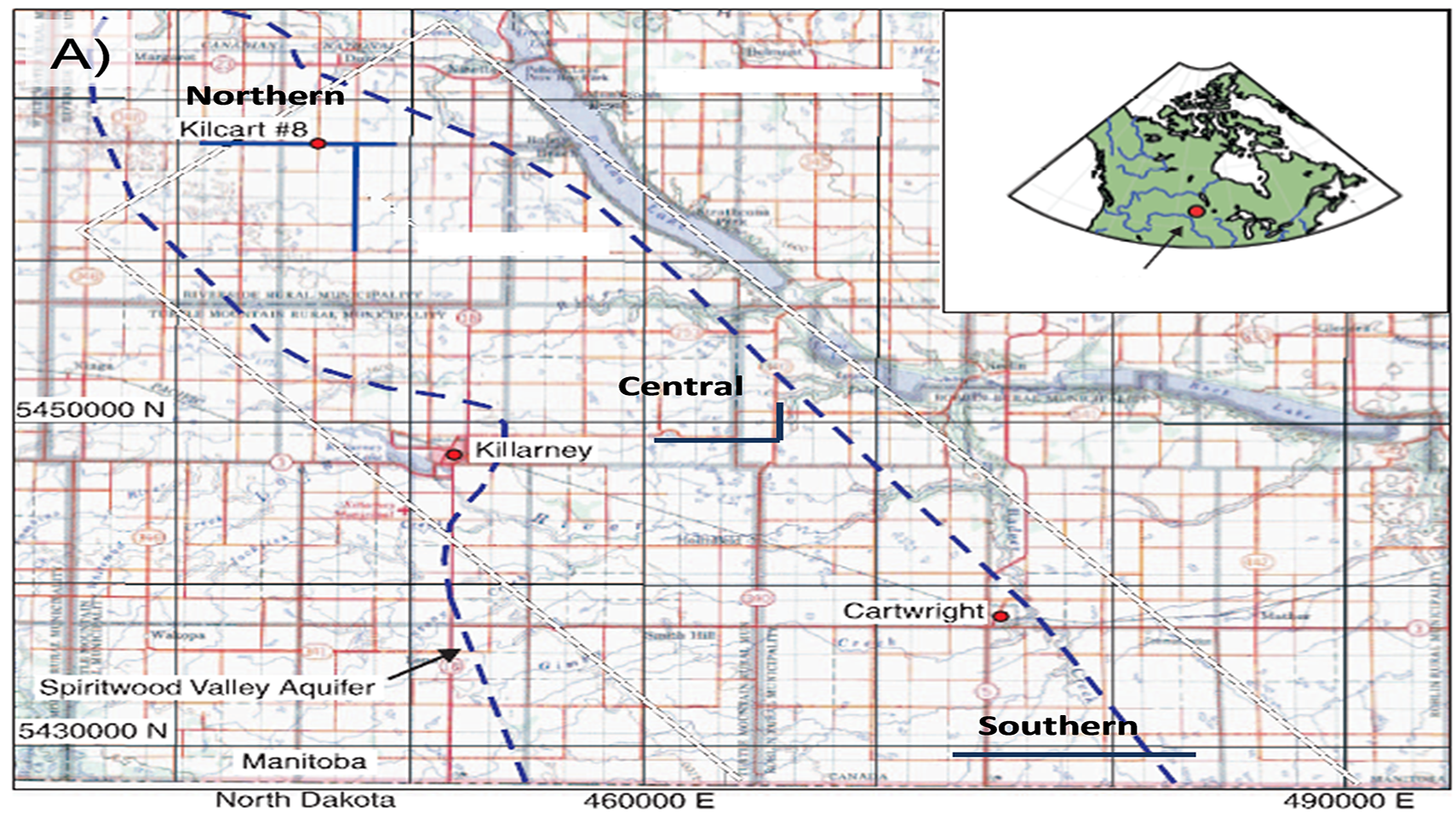 Figure 1: Spiritwood Valley location