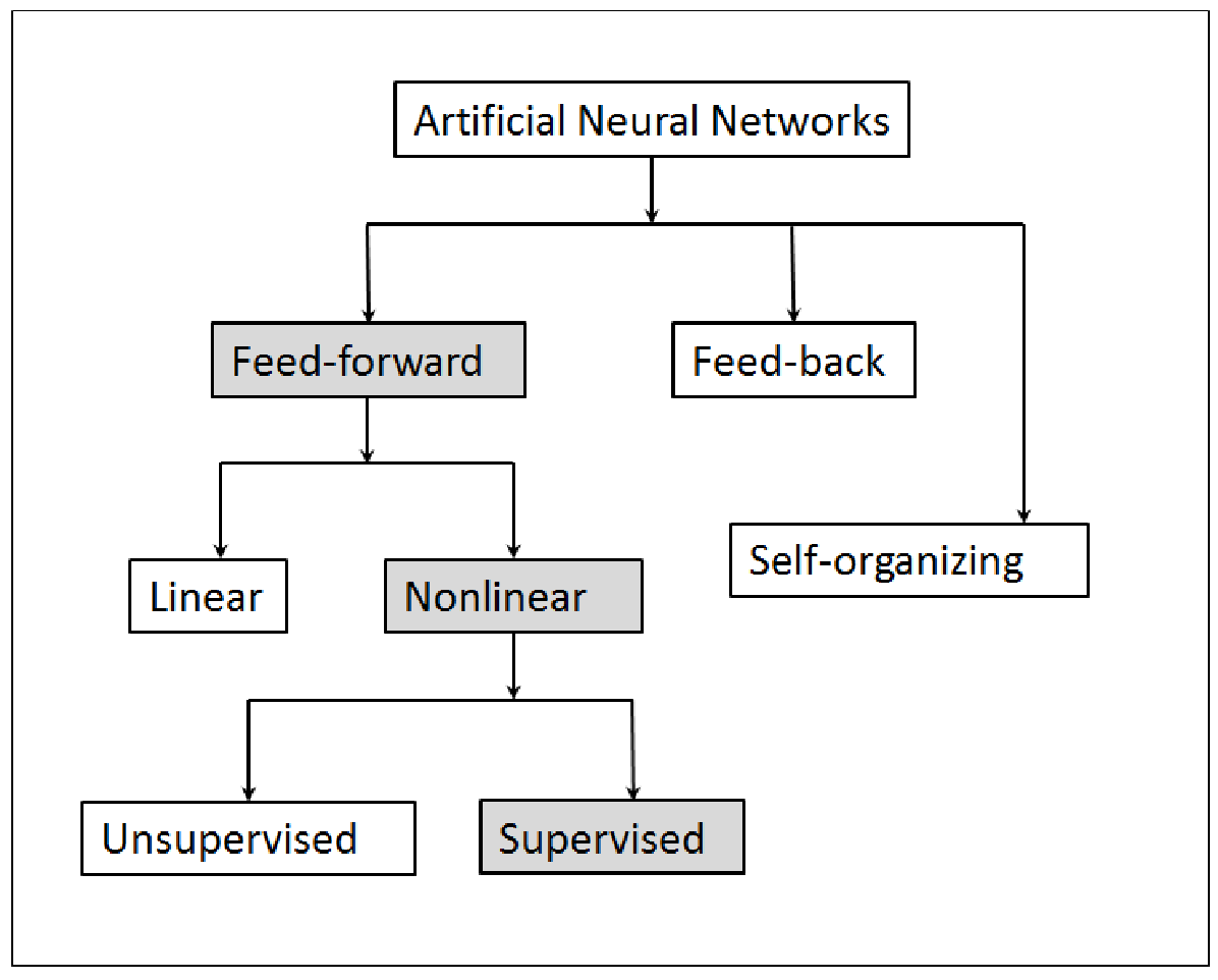 Figure 1: Neural networks classifications, modified after Lobbrecht et al., 2002.