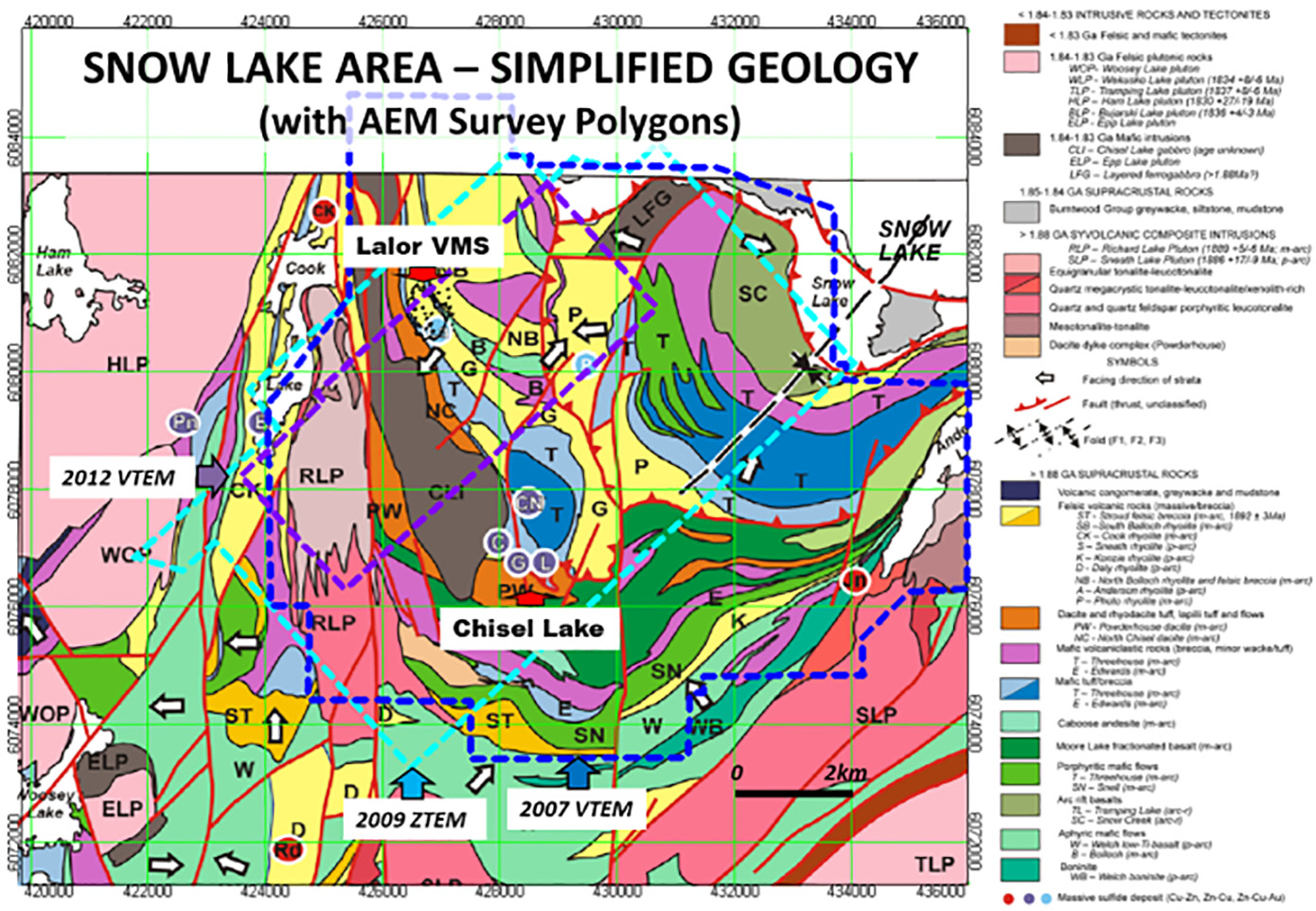 geology of flin flon area The term flin flon-glennie complex has been assigned to this volcano-sedimentary-plutonic package extending continuously from flin flon to the lac la ronge-reindeer lake area in the west and occurring discontinuously to the north due to structural imbrication and fold interference.