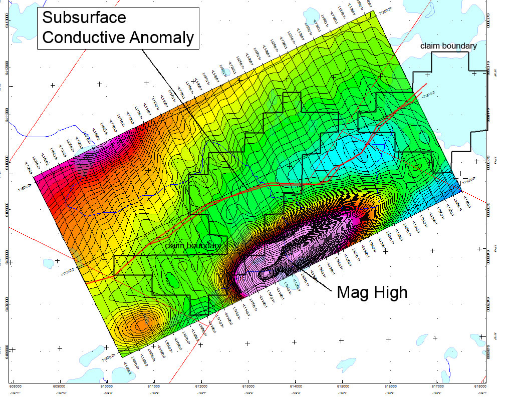arter Lake Project - Unity Energy Corp. - Subsurface Conductive Anomaly - Mag High