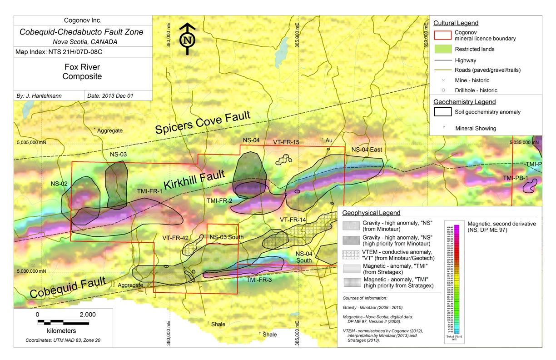 Chilean Metals Inc - Cogonov Inc - Cobequid - Fox River Composite
