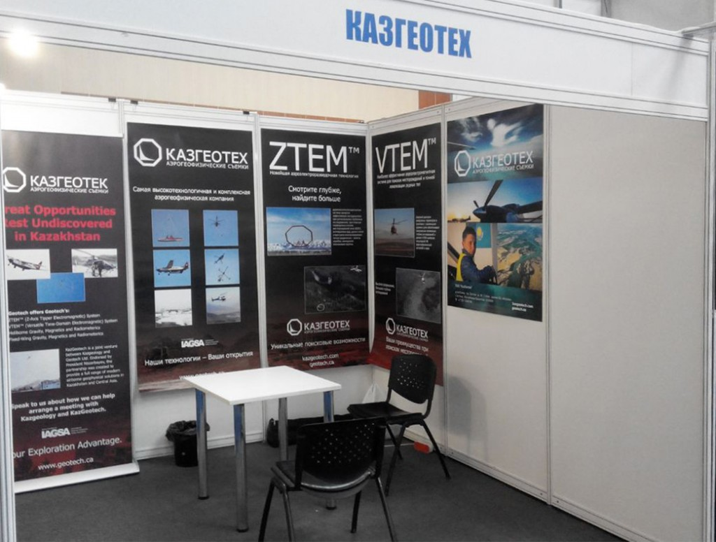 KazGeotech booth set up - edit
