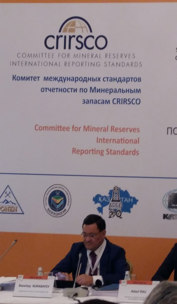 Kazakhstan is a member of CRIRSCO - edit