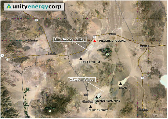 The Miller's Crossing Lithium Project - Big Smoky Valley, Esmeralda County, Nevada - Unity Energy