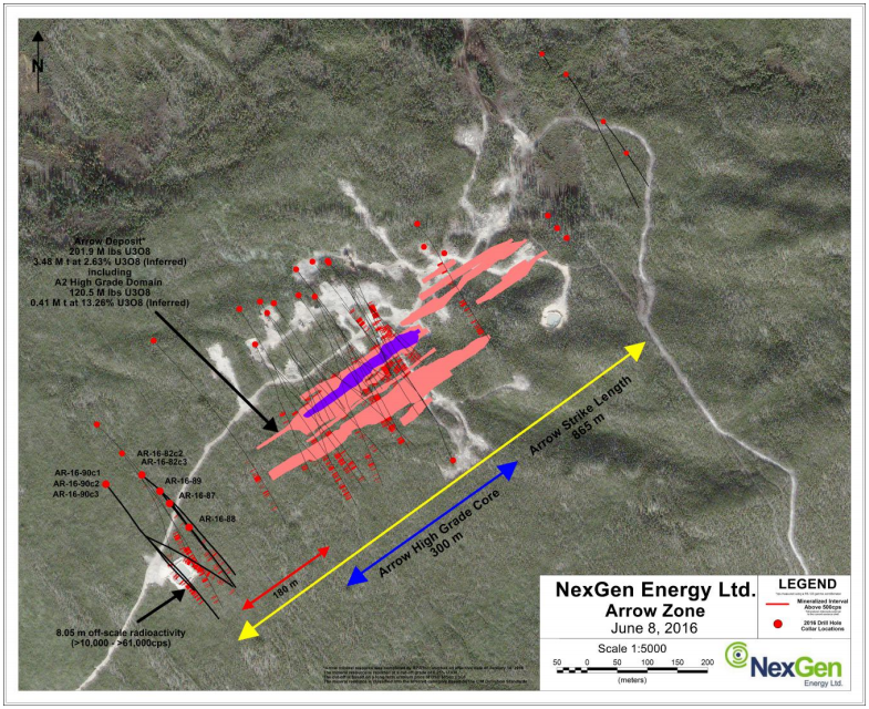 NexGen Energy - Arrow Drill Hole Locations