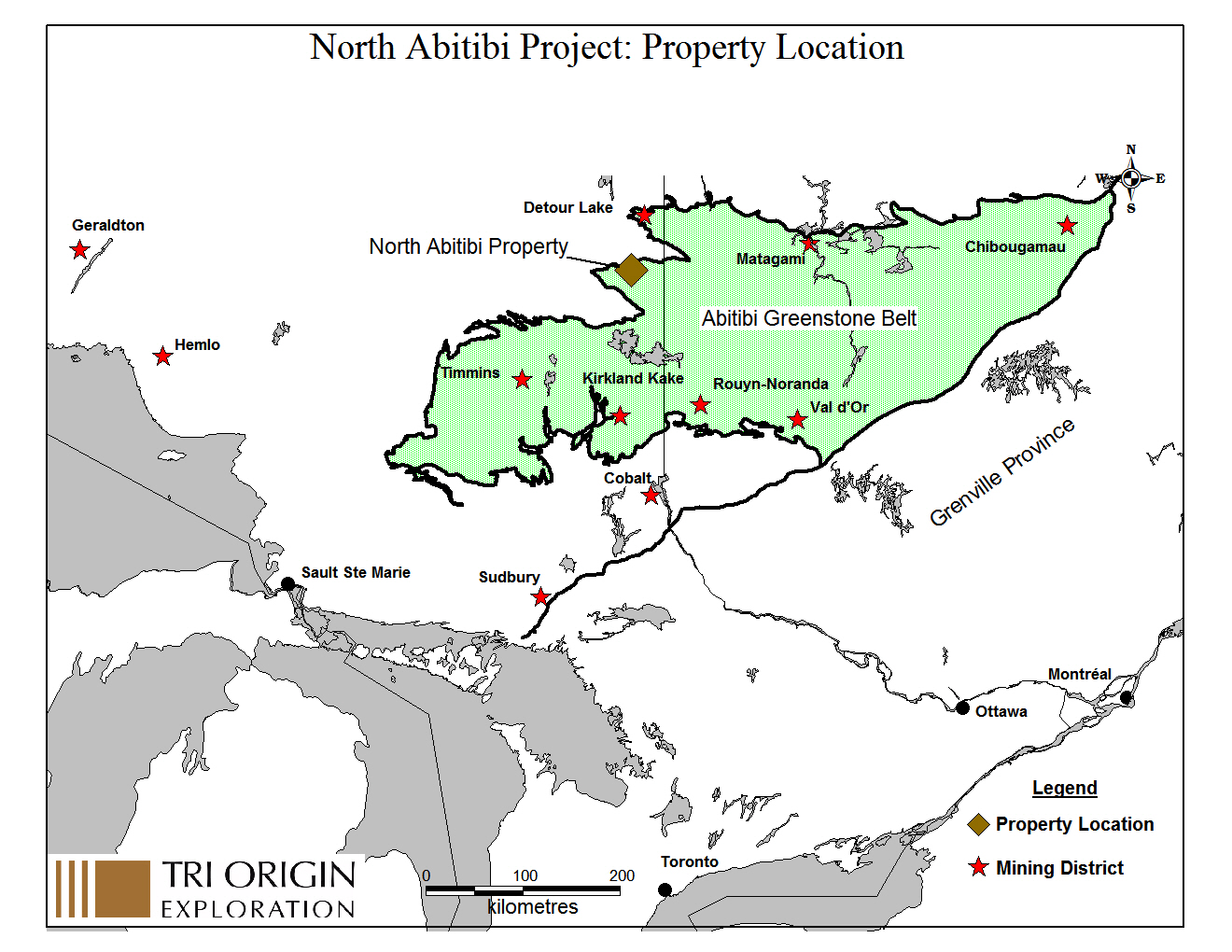 Tri Origin - North Abitibi Project - Greenstone belt