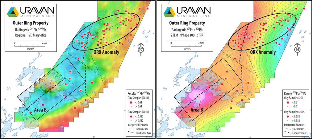 Uravan - Athabasca Basin - Outer Ring Property - ORX Anomaly Area B