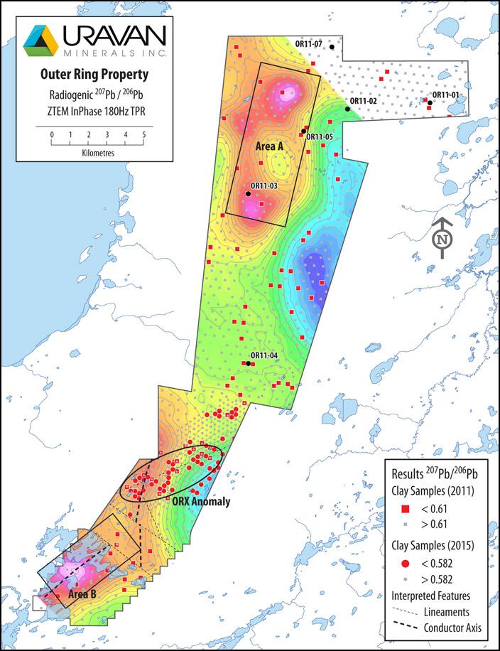 Uravan - Athabasca Basin - Outer Ring Property - ORX Anomaly - ZTEM InPhase