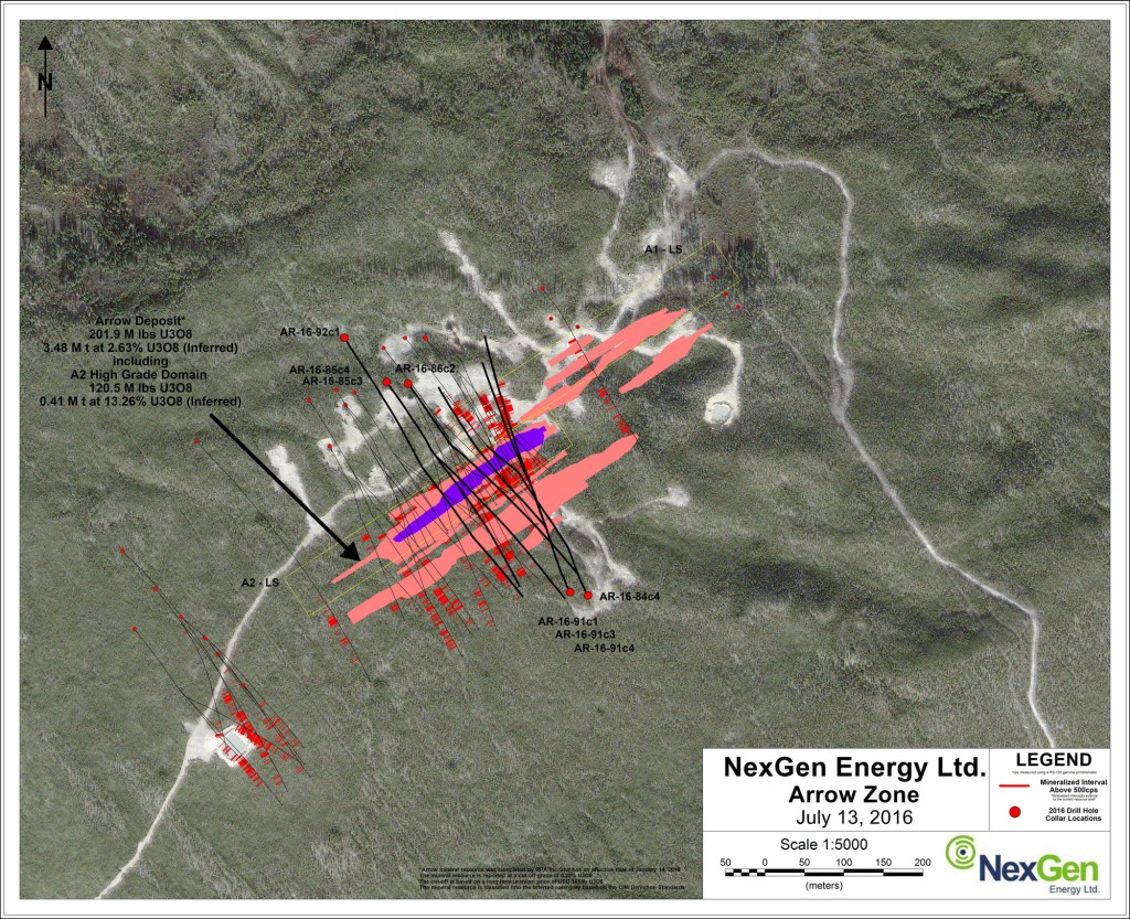 NexGen Energy Ltd. Arrow Zone - Arrow Drill Hole Locations