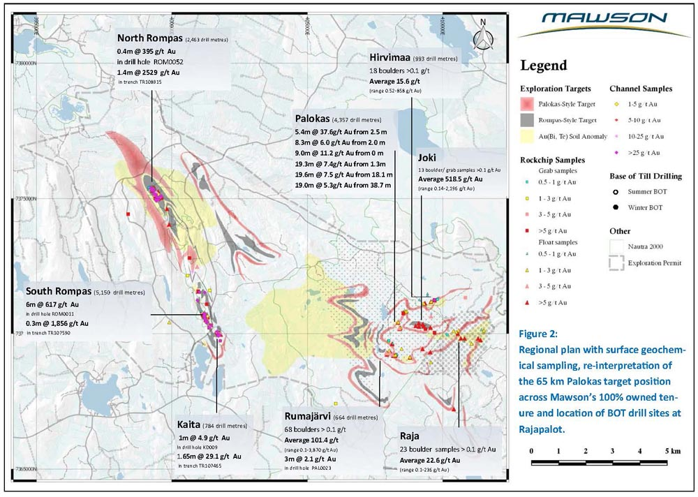 Figure 2 Mawson Resources Finland