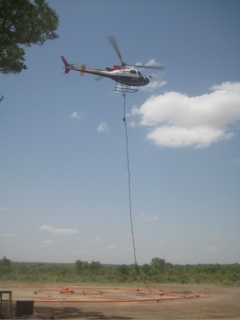 Geotech helicopter