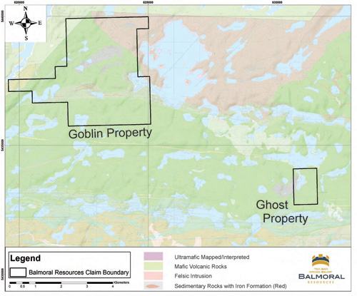Figure 3 - Goblin Property Geology