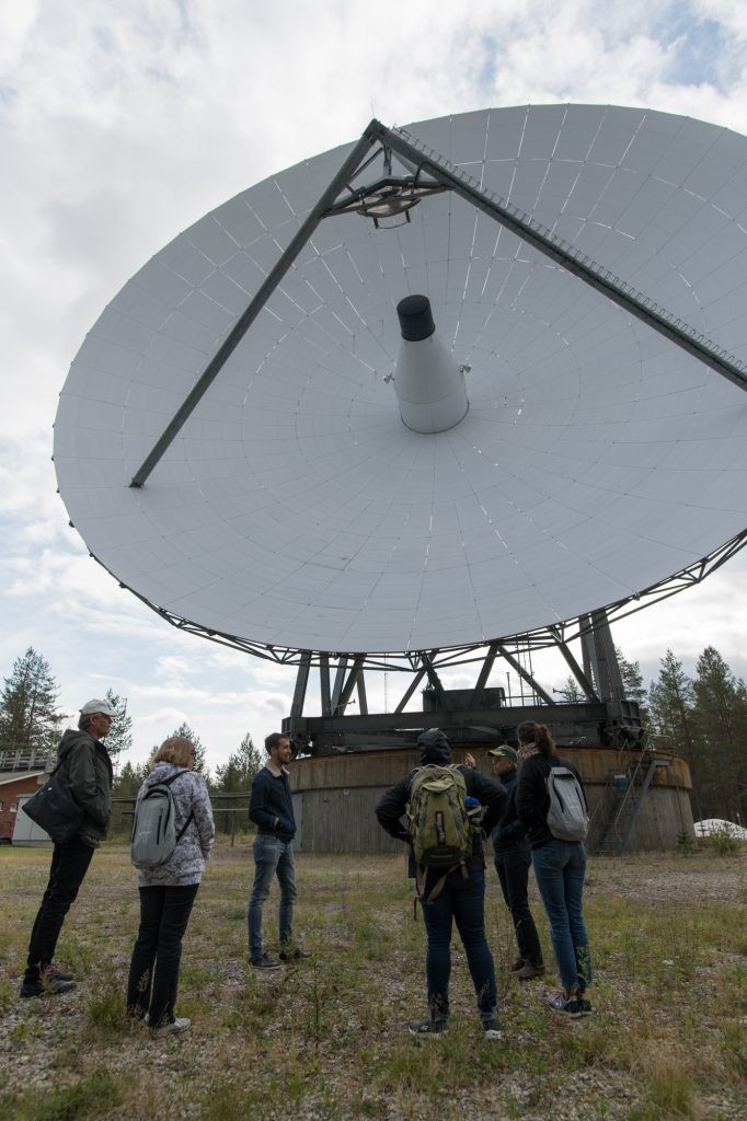 HZDR personnel and local partners during the tour of the Sodankylä Geophysical Observatory