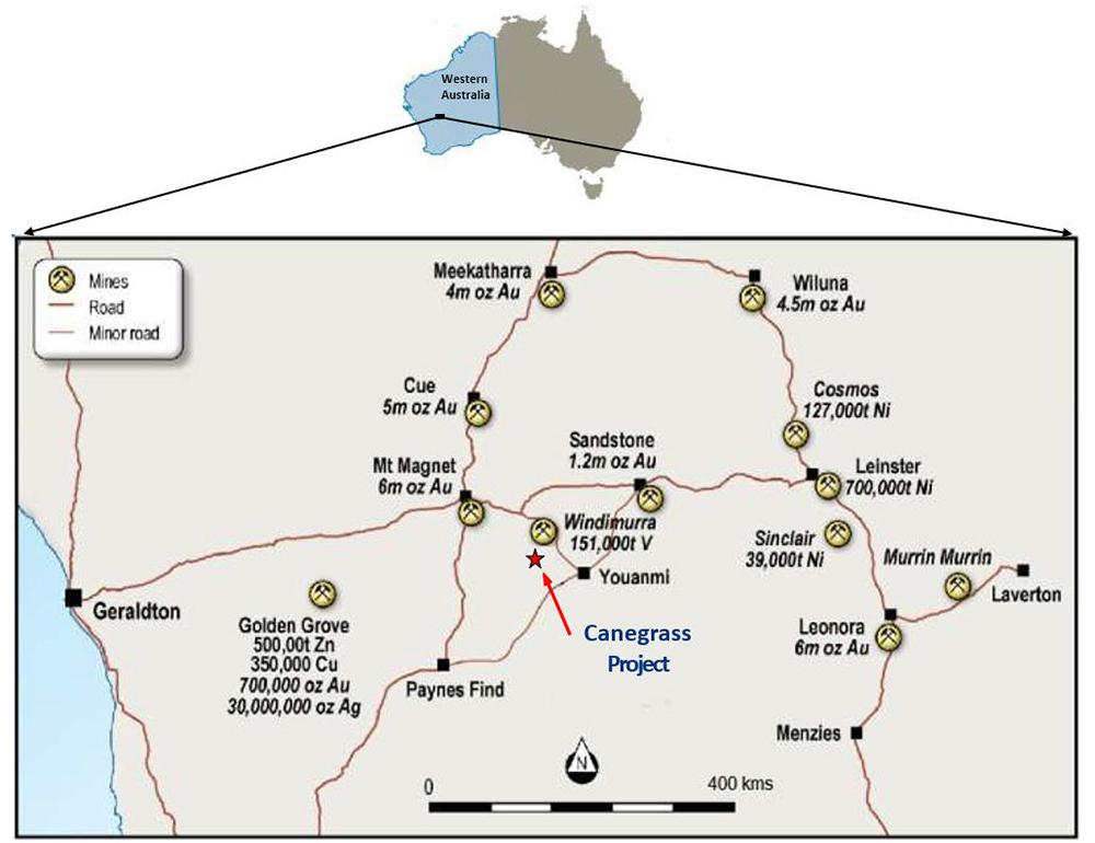 Figure 4: Western Australia – Property Location Map