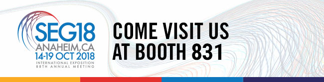SEG18 - Come visit us at Booth 831