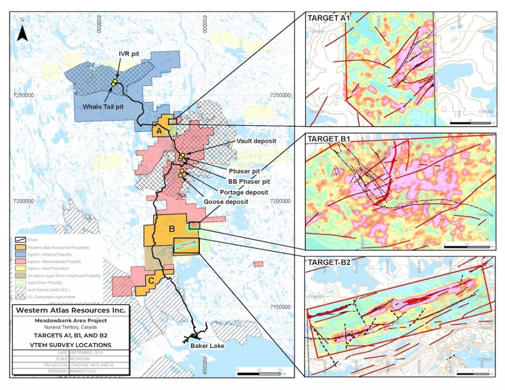 Figure 1: Western Atlas Block boundaries VTEM surveys in relation