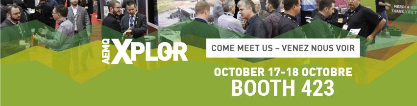 Xplor - Come meet us - Venez nous voir - Booth 423