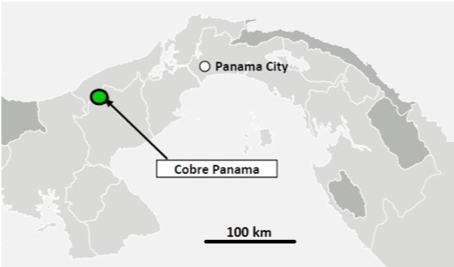 Figure 1: Location map for Cobre Panama project.