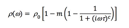 Cole-Cole - Equation