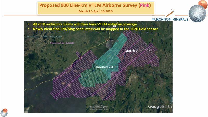 Proposed 900 Line-Km VTEM Airborne Survey