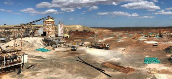 Drilling at the Grace deposit where two reverse circulation rigs are operating